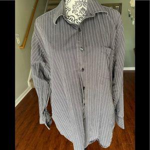 Calvin Klein Long Sleeve Striped Button Up Size XL